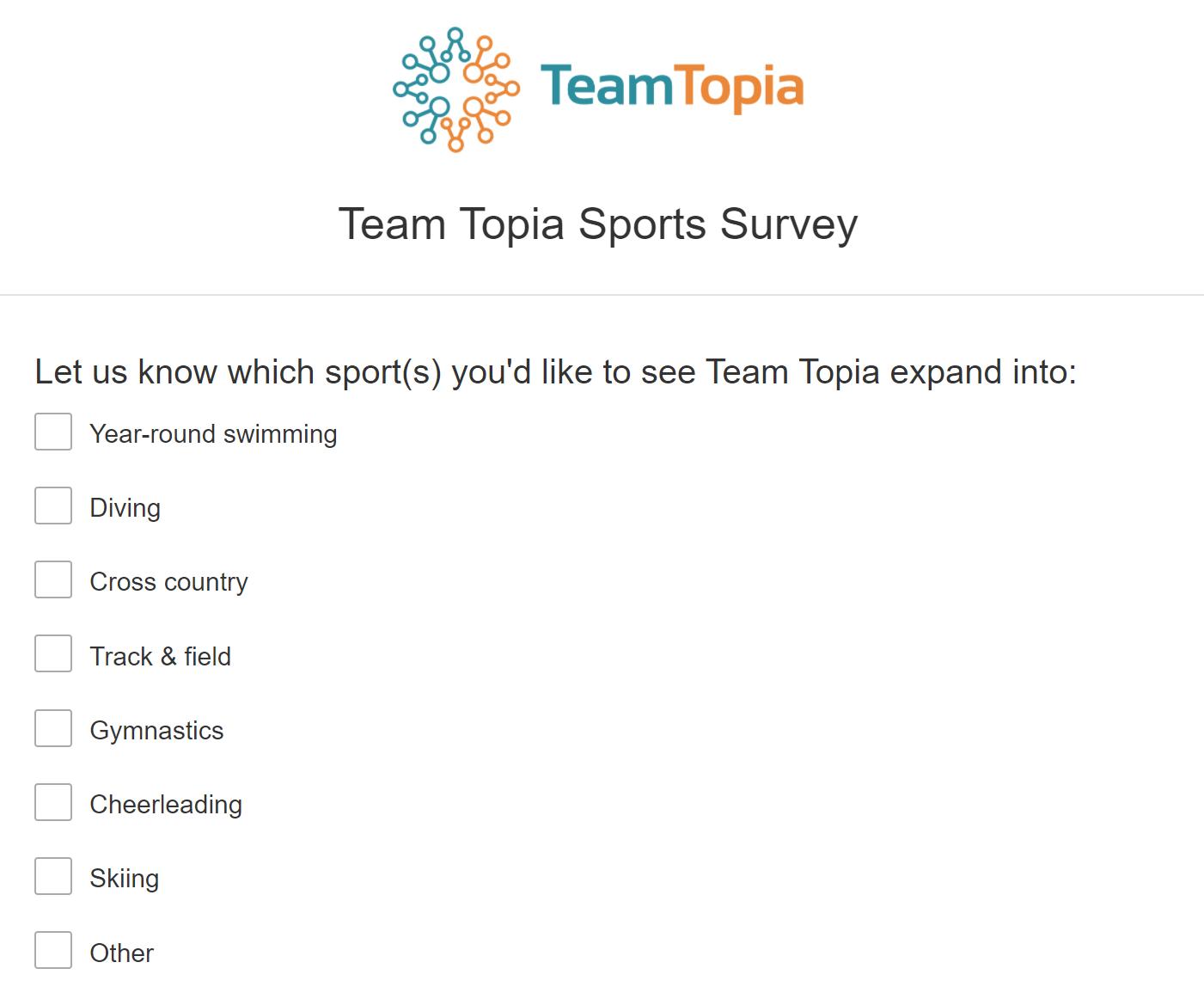 Team Topia Survey